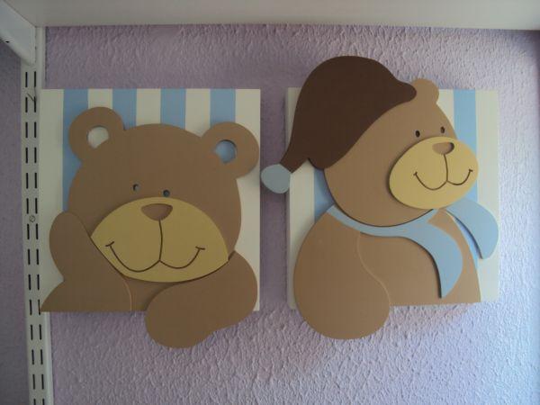 Quadro De Urso Para Quarto De Bebe ~ QUADROS URSOS  Loja de Marli Artes quarto de Bebe