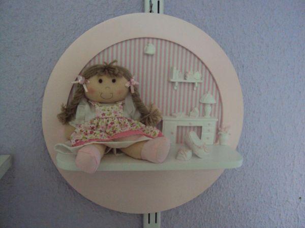 Quadro Para Quarto De Bebe Com Led ~ QUADRO REDONDO MENINA ROSA  Loja de Marli Artes quarto de Bebe